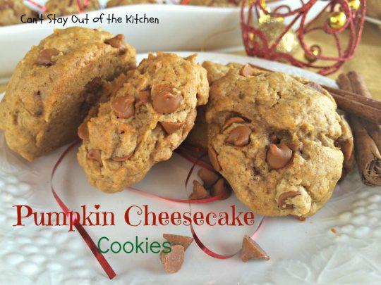 Pumpkin Cheesecake Cookies - IMG_2883
