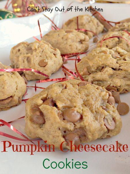 Pumpkin Cheesecake Cookies - IMG_2903
