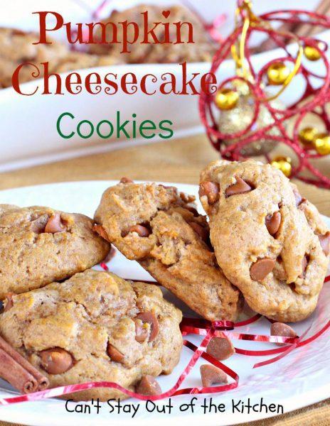 Pumpkin Cheesecake Cookies - IMG_9309