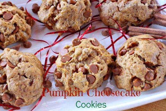 Pumpkin Cheesecake Cookies - IMG_9342