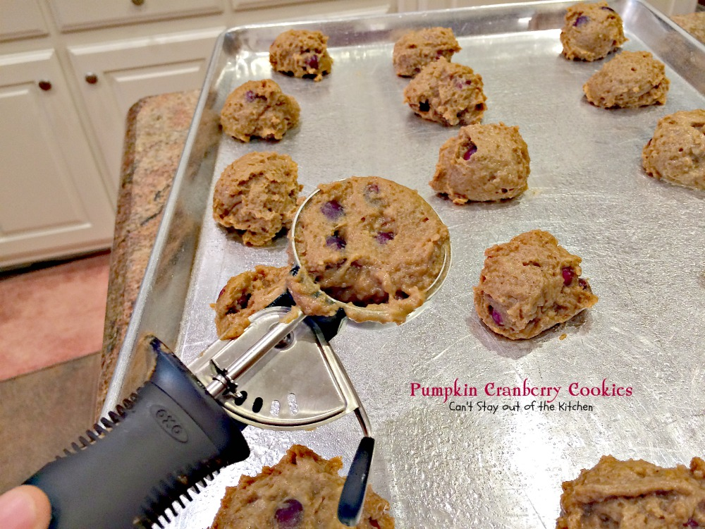 ... quarter cup ice cream scoop to scoop dough and place on cookie sheets