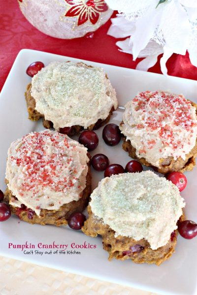Pumpkin Cranberry Cookies - Can't Stay Out of the Kitchen