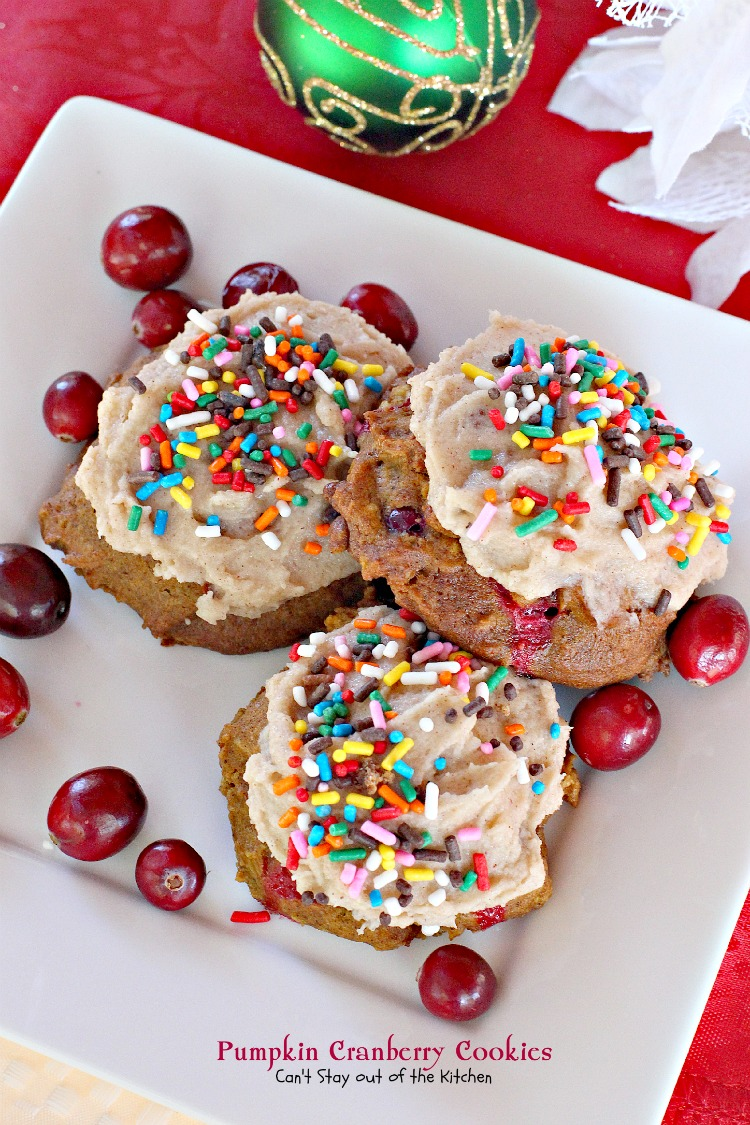 Cranberries add a little tartness to these cookies, but the icing puts ...