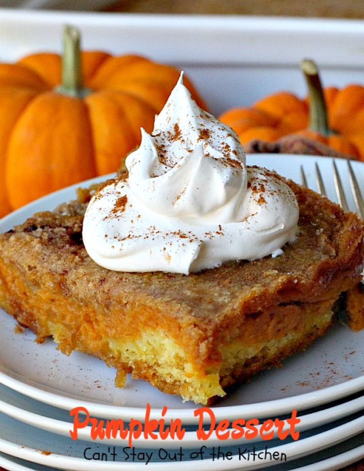 Pumpkin Dessert - Can't Stay Out of the Kitchen