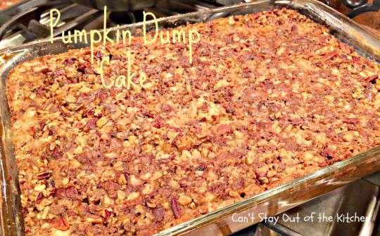 Duncan Hines Pumpkin Dump Cake