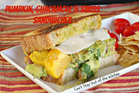 Pumpkin, Guacamole and Swiss Sandwiches - IMG_3432