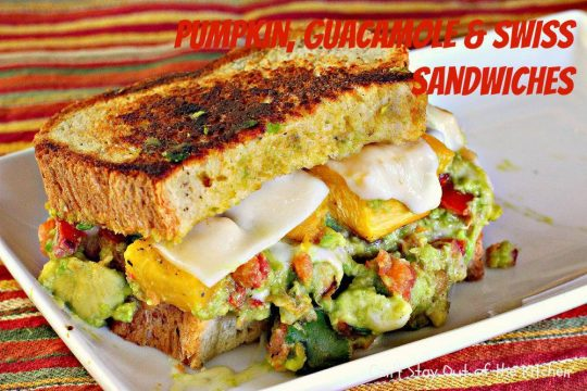 Pumpkin, Guacamole and Swiss Sandwiches - IMG_3437