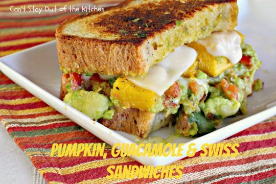 Pumpkin, Guacamole and Swiss Sandwiches - IMG_3441
