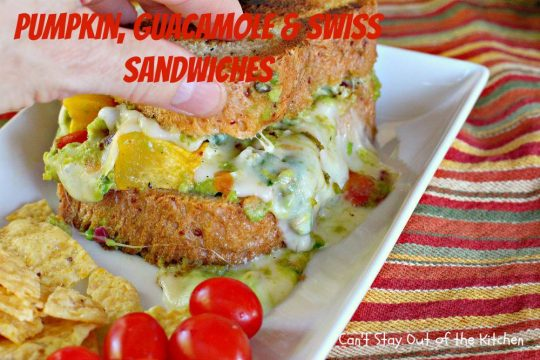 Pumpkin, Guacamole and Swiss Sandwiches - IMG_3457