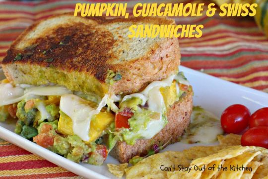 Pumpkin, Guacamole and Swiss Sandwiches - IMG_3464