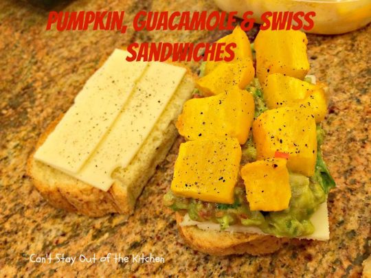 Pumpkin, Guacamole and Swiss Sandwiches - IMG_8109