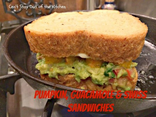 Pumpkin, Guacamole and Swiss Sandwiches - IMG_8110