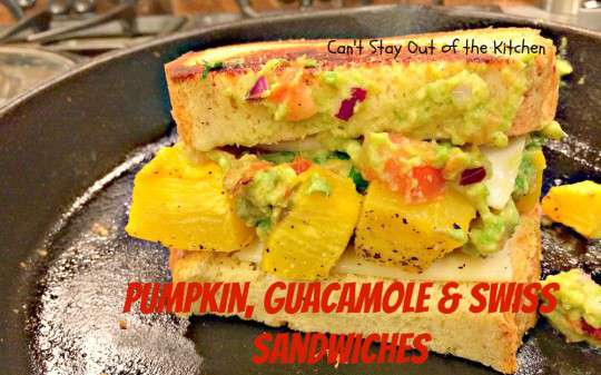Pumpkin, Guacamole and Swiss Sandwiches - IMG_8116