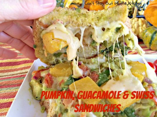 Pumpkin, Guacamole and Swiss Sandwiches - IMG_8164
