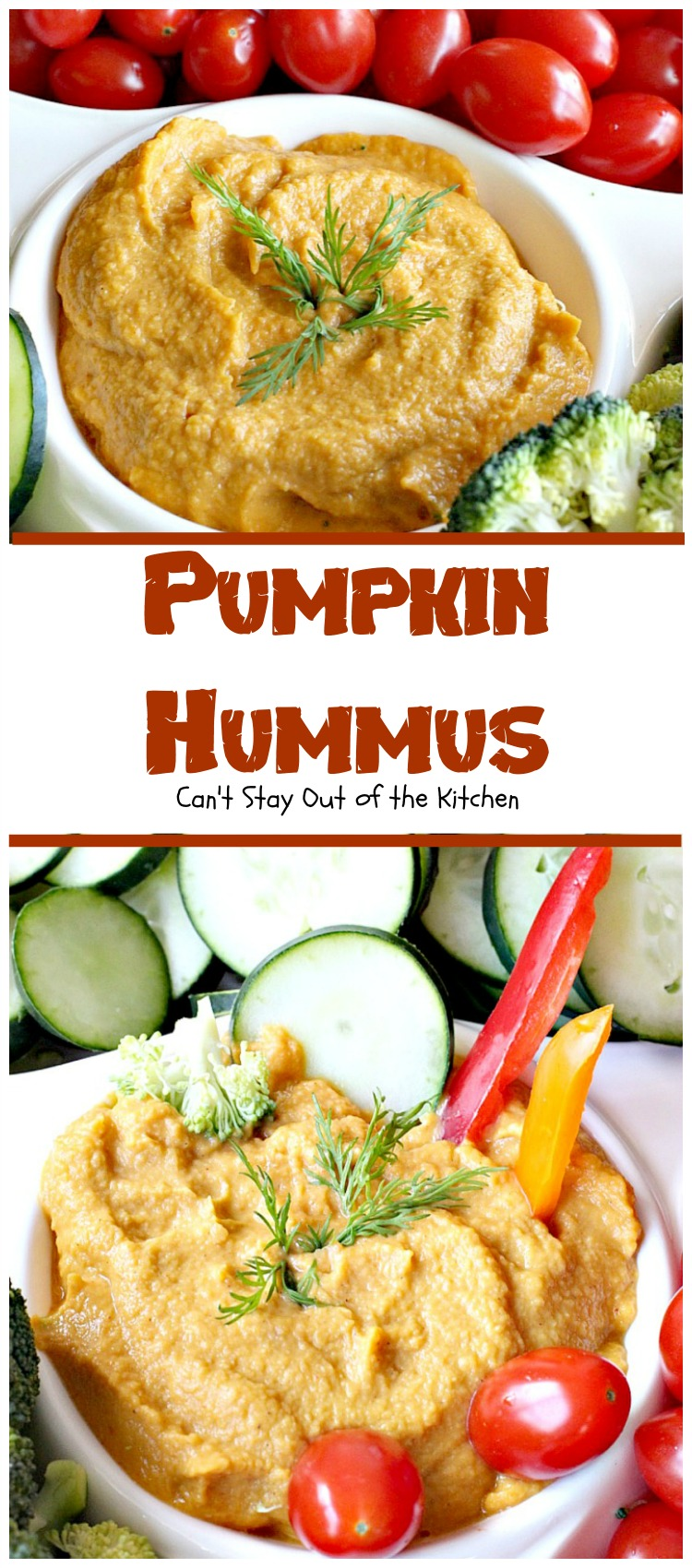 Pumpkin Hummus - Can't Stay Out of the Kitchen