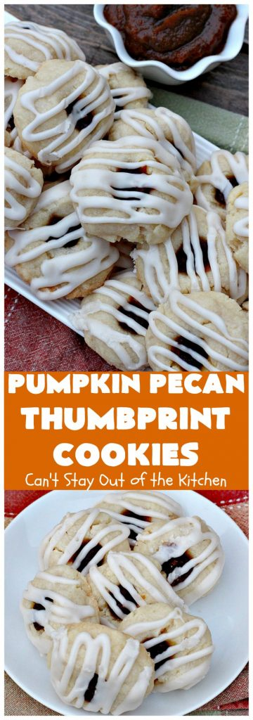 Pumpkin Pecan Thumbprint Cookies | Can't Stay Out of the Kitchen