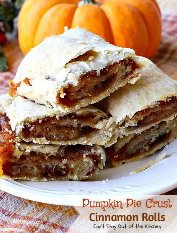 Pumpkin Pie Crust Cinnamon Rolls | Can't Stay Out of the Kitchen