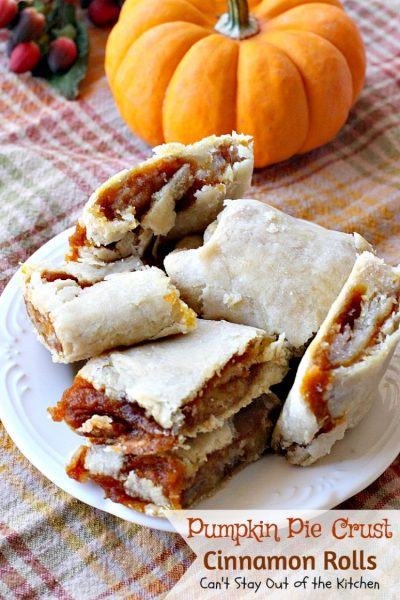 Pumpkin Pie Crust Cinnamon Rolls | Can't Stay Out of the Kitchen | these #cinnamonrolls are divine! So easy and delicious, and tastes just like eating miniature #pumpkinpie! A great way to use up leftover #pumpkin. #breakfast