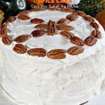 Pumpkin Spice Cake | Can't Stay Out of the Kitchen | this awesome #cake is filled with #pumpkin, spices & #pecans & topped with a heavenly #creamcheese frosting. #dessert