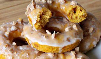 Pumpkin Toffee Donuts