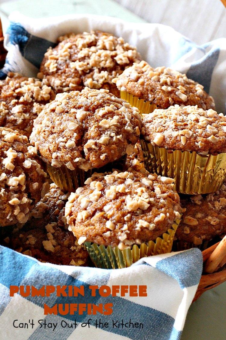 Pumpkin Toffee Muffins