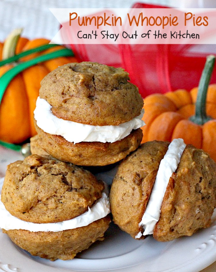 Pumpkin Whoopie Pies | Can't Stay Out of the Kitchen