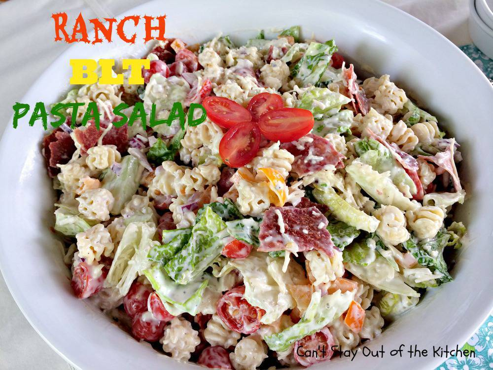 Ranch BLT Pasta Salad is a great salad to make for hot summer days.