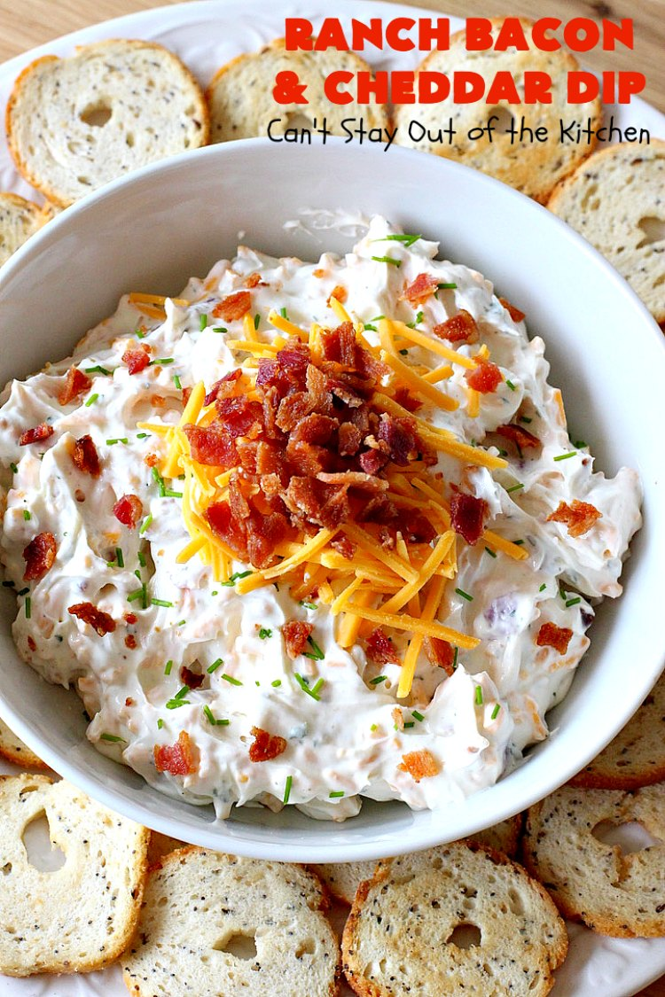 Ranch Bacon And Cheddar Dip Can T Stay Out Of The Kitchen