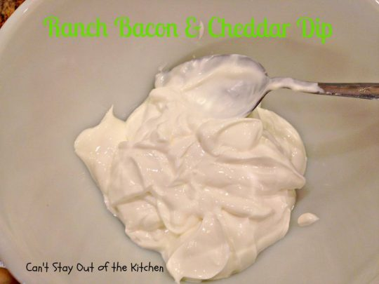 Ranch Bacon and Cheddar Dip - IMG_3241