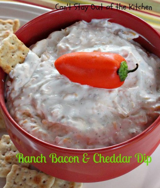 Ranch Bacon and Cheddar Dip - IMG_8445