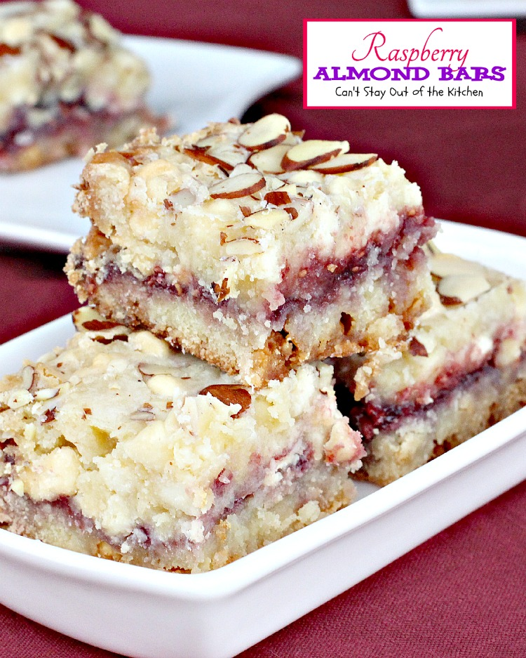 Raspberry Almond Bars | Can't Stay Out of the Kitchen | absolutely ...