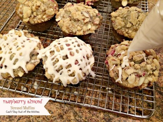 Raspberry Almond Streusel Muffins | Can't Stay Out of the Kitchen | absolutely spectacular #breakfast #muffins filled with #raspberries #almonds and raspberry #Greekyogurt.
