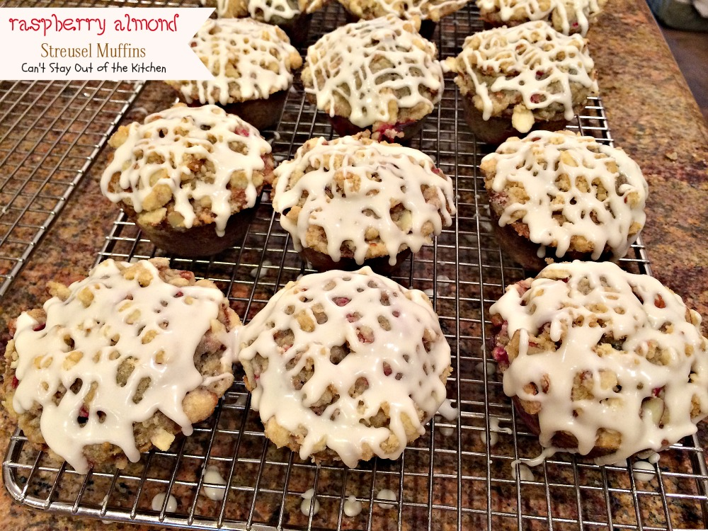 There is more than enough icing for all the of the muffins. Drizzle ...