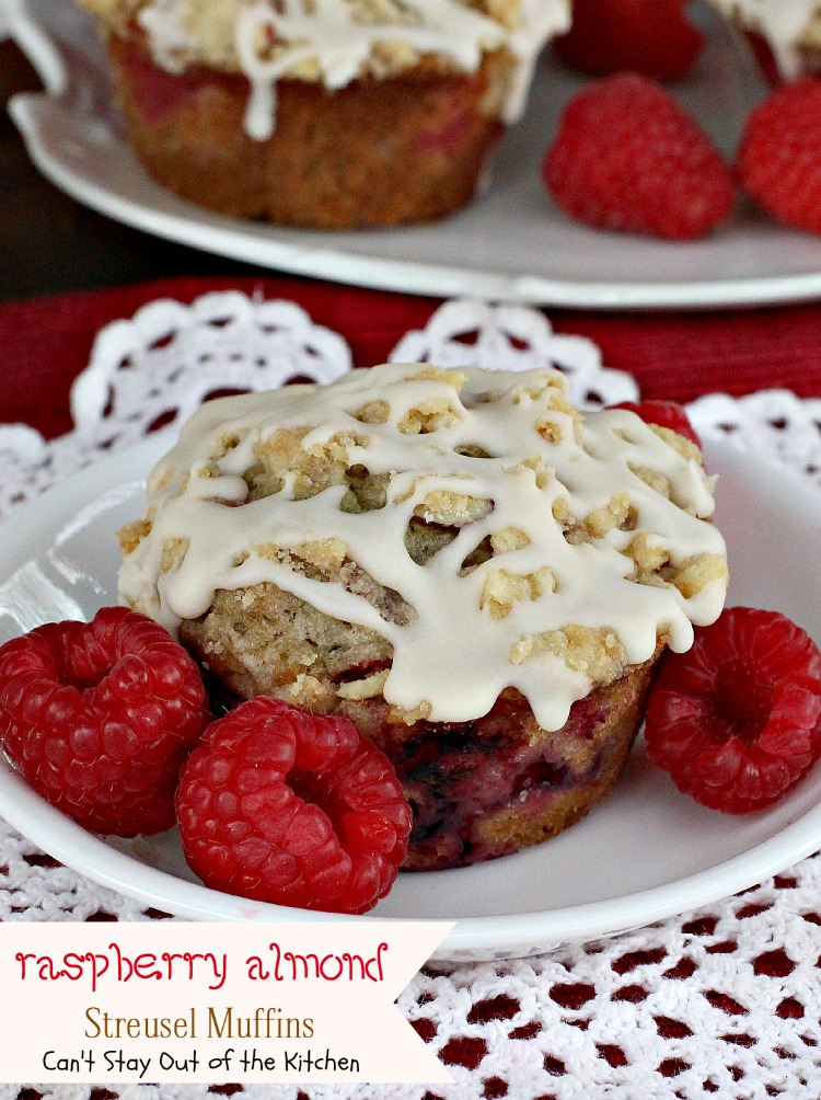Raspberry Almond Streusel Muffins - Can't Stay Out of the ...