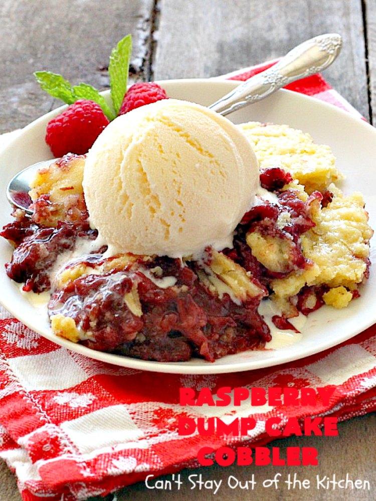 Raspberry Dump Cake Cobbler