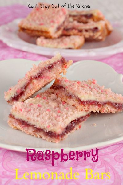 Raspberry Lemonade Bars | Can't Stay Out of the Kitchen