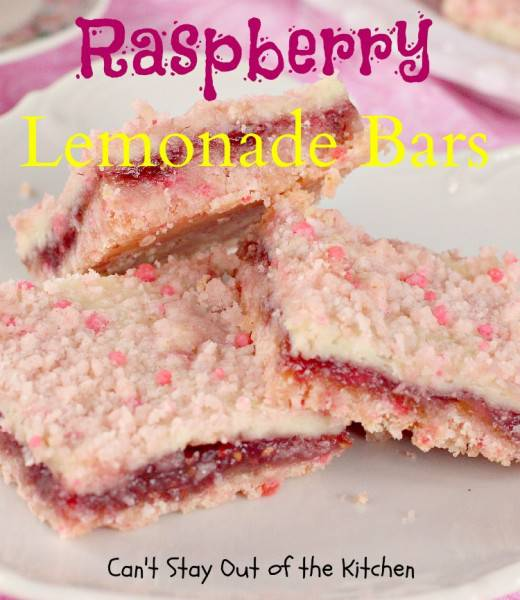 Raspberry Lemonade Bars - IMG_1292