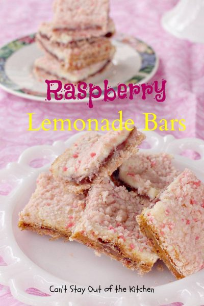 Raspberry Lemonade Bars - IMG_1314