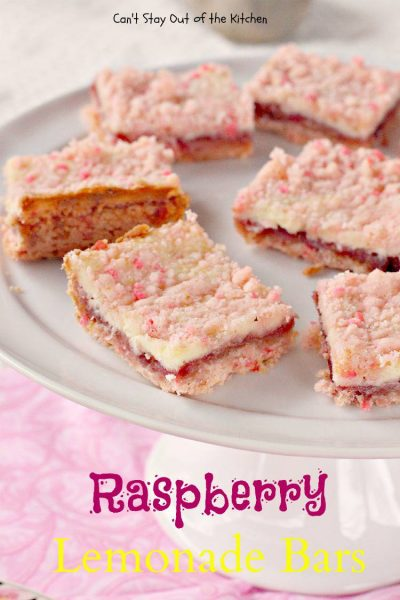 Raspberry Lemonade Bars - IMG_1323