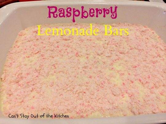 Raspberry Lemonade Bars - IMG_5587