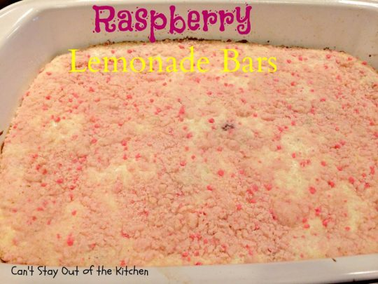 Raspberry Lemonade Bars - IMG_5589