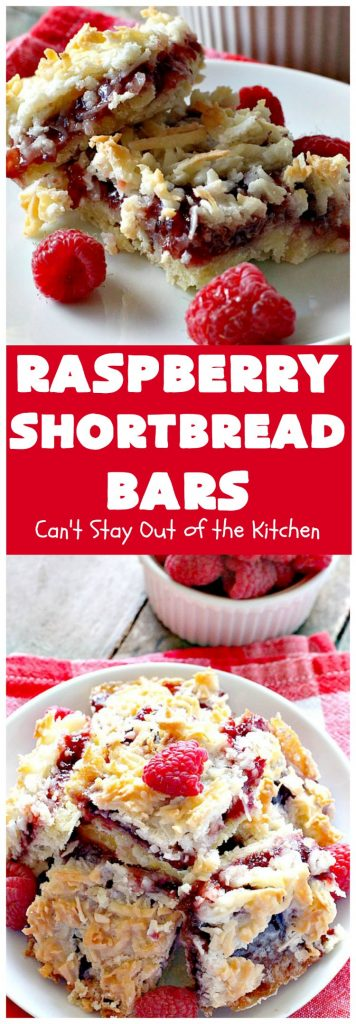 Raspberry Shortbread Bars | Can't Stay Out of the Kitchen