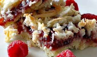 Raspberry Shortbread Bars