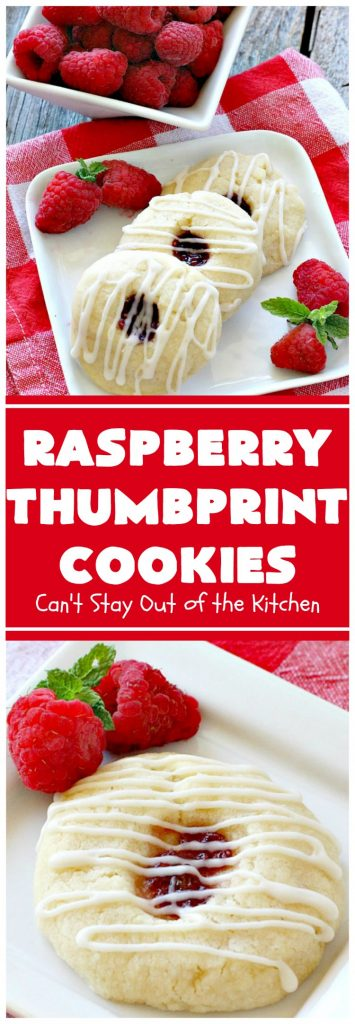 Raspberry Thumbprint Cookies | Can't Stay Out of the Kitchen