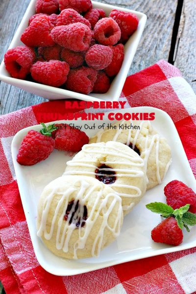 Raspberry Thumbprint Cookies | Can't Stay Out of the Kitchen | These #cookies are divine! They're perfect for #holiday parties, baby showers, potlucks or family reunions. Everyone loves them! #dessert #raspberry