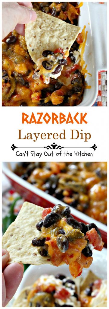 Razorback Layered Dip | Can't Stay Out of the Kitchen
