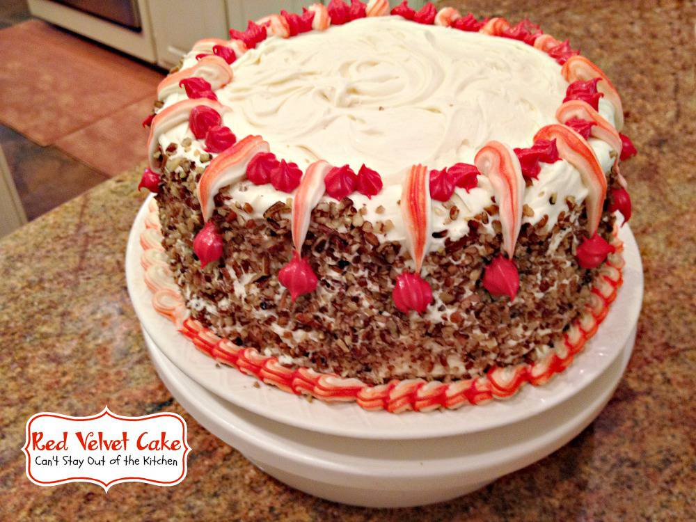 Red Velvet Cake - Canot Stay Out of the Kitchen