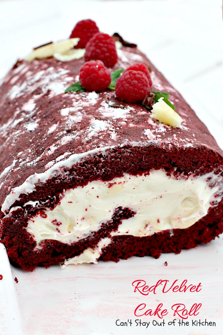 Red Velvet Cake Roll - Can't Stay Out of the Kitchen
