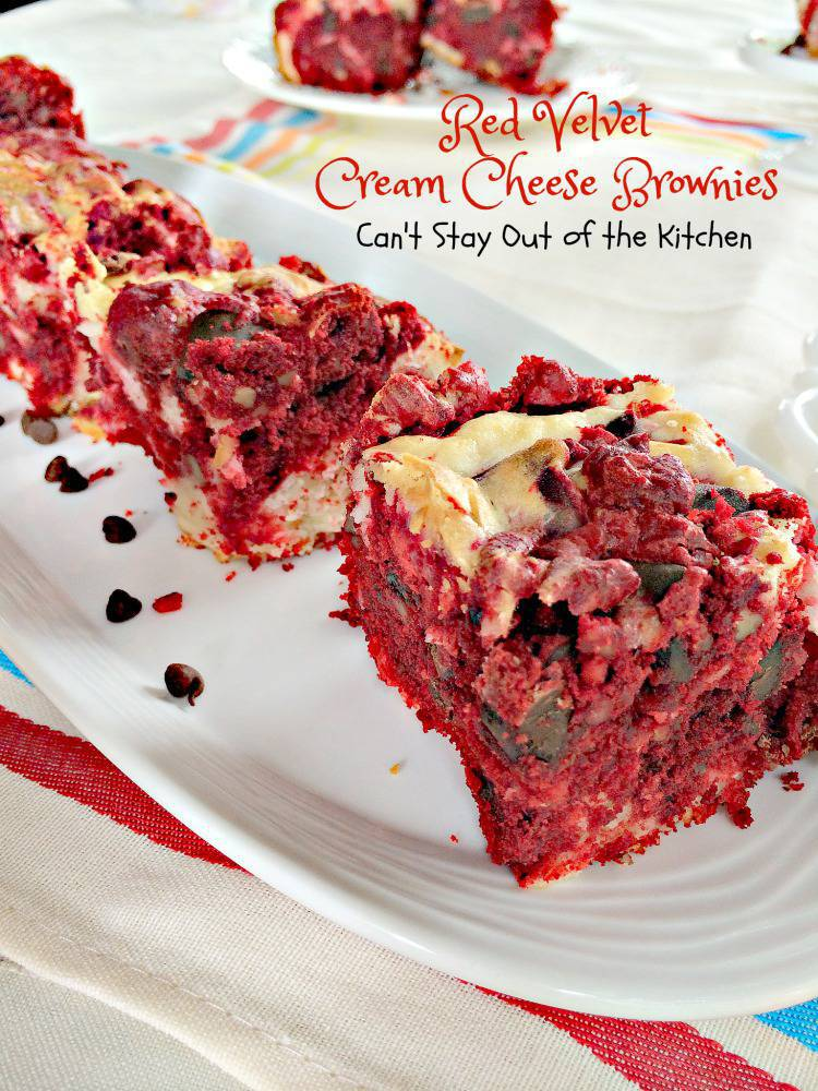 Red Velvet Cream Cheese Brownies Can T Stay Out Of The