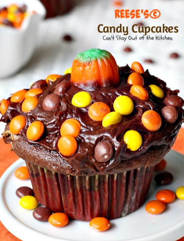 Reese's Candy Cupcakes | Can't Stay Out of the Kitchen